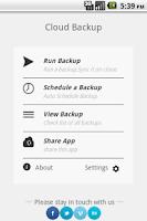Screenshot of Cloud Backup & Restore