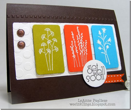 LeAnne Pugliese WeeInklings ColourQ217 Pocket Silhouettes Get Well Card Stampin Up