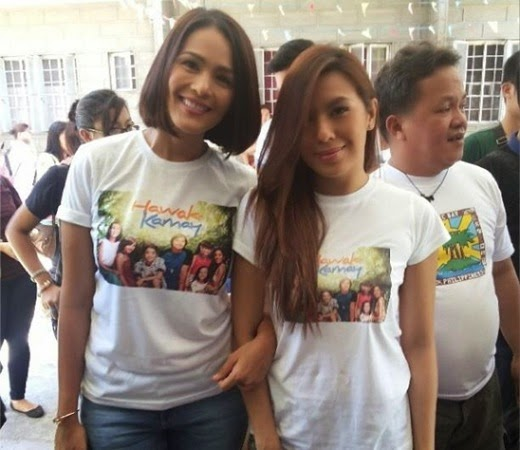 Iza Calzado and Nikki Gil at the Hawak Kamay Family Day