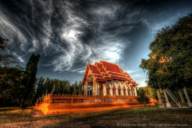 Temple Thailand sunset