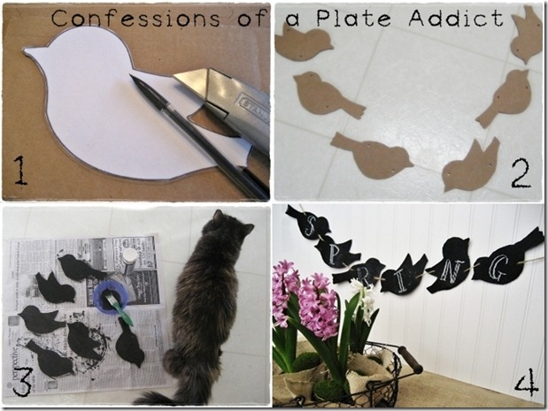 CONFESSIONS OF A PLATE ADDICT Chalkboard Birds Tutorial