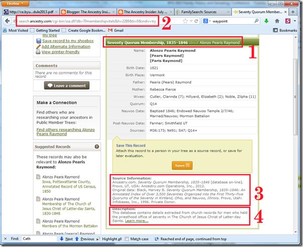家庭搜索系列树源的四个字段可以直接从Ancestry.com记录复制