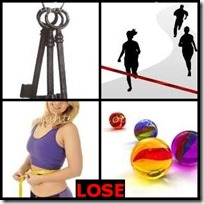 LOSE- 4 Pics 1 Word Answers 3 Letters