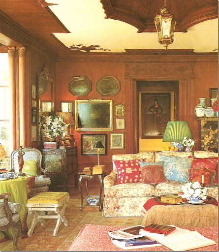 Lynn Von Kerstingu0027s Own House U2013 Filled With Bennison Fabric, Paisleys,  Accessories And Accent Furniture From India. Red, Blue, And Green All Mixed  Together ...