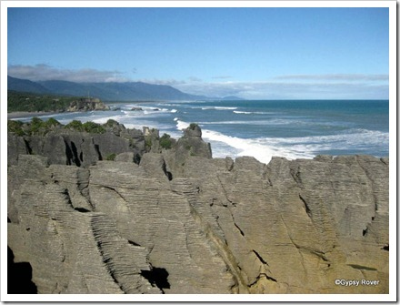 Punakaiki Pancake rocks on the West Coast.