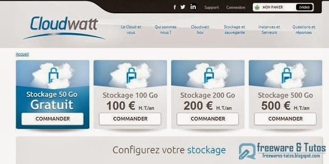 Bénéficiez de 50 Go gratuits en ligne avec Cloudwatt