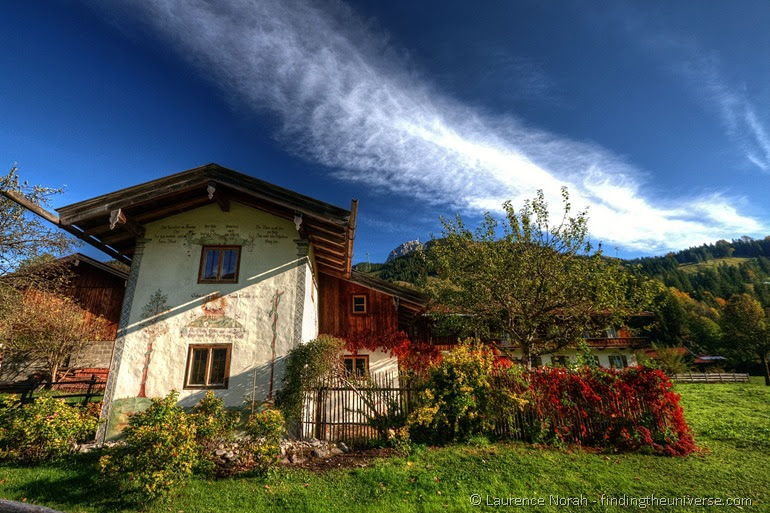 House in Bavaria Germany Autumn colours