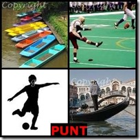 PUNT- 4 Pics 1 Word Answers 3 Letters