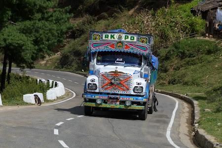 Camion viu colorat prin Bhutan