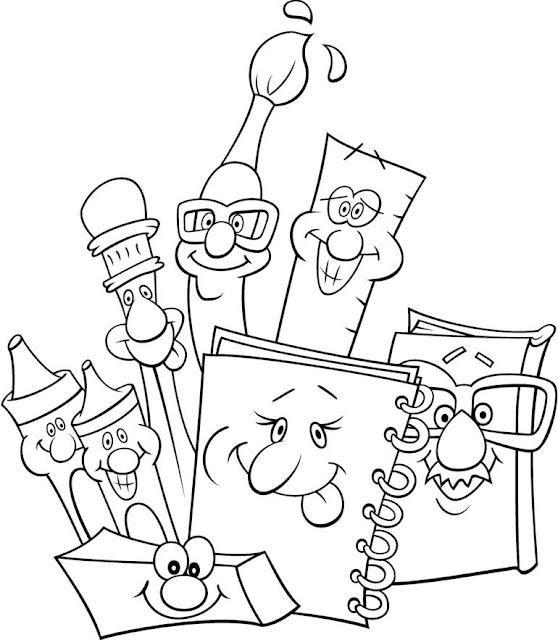 Ninos Y Colegio Dibujos Para Colorear