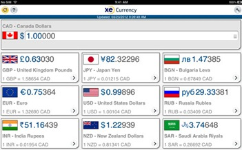 Free Currency Converter for iPad