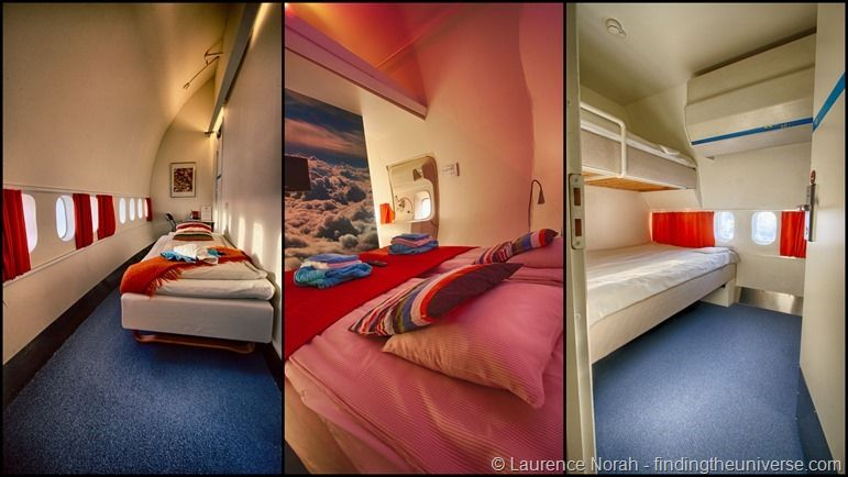 Jumbo Hostel Stockholm selection of rooms in converted 747 hotel