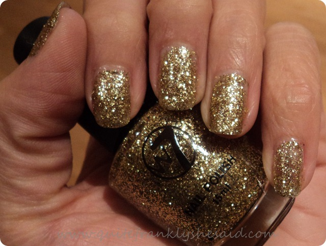W7 Gold Dazzle polish nail