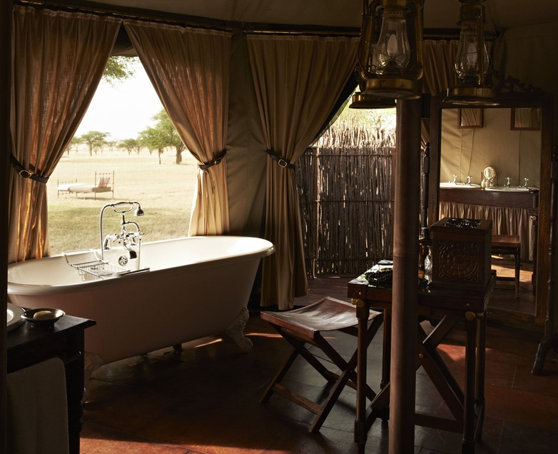 Singita Sabora Camp, Grumeti, Serengeti, Tanzania. Agency HKLM. Art Director: Paul Henriques. Stylist/Producer: Janine Fourie. Photographer: Mark Williams. 14/02/12.