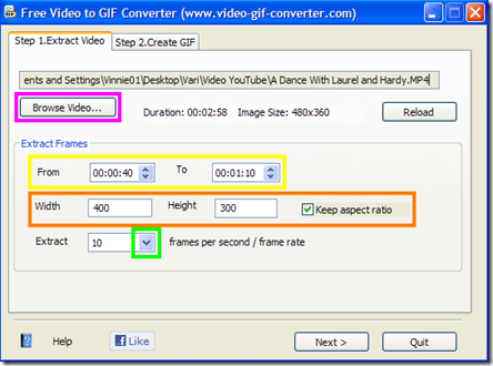 Free Video to GIF Converter Step 1