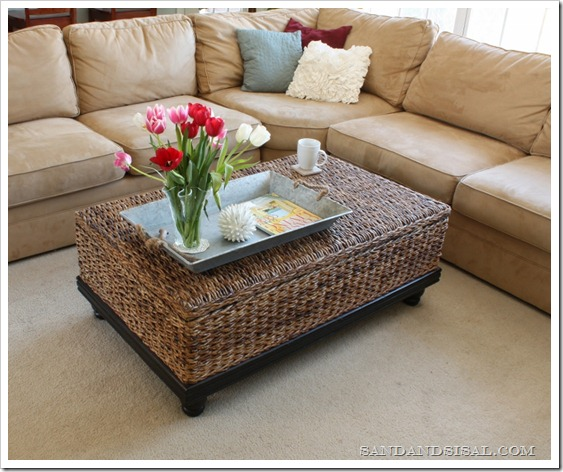 Family Room - abaca coffee table