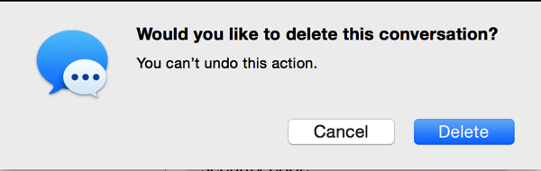 OS X Messages Delete Prompt
