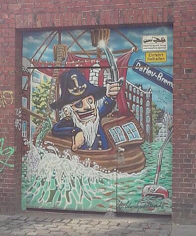 Seeräuber Graffitti