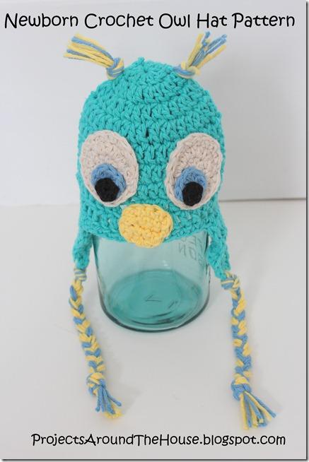 newborn crochet owl hat pattern