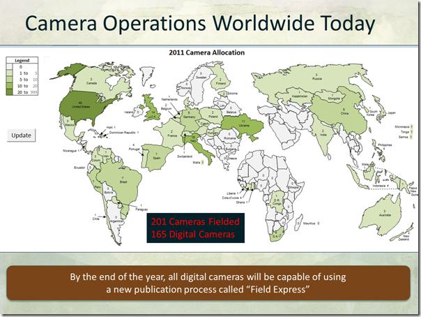 Fumanysearch. Worldwide Camera Operations Map 2011