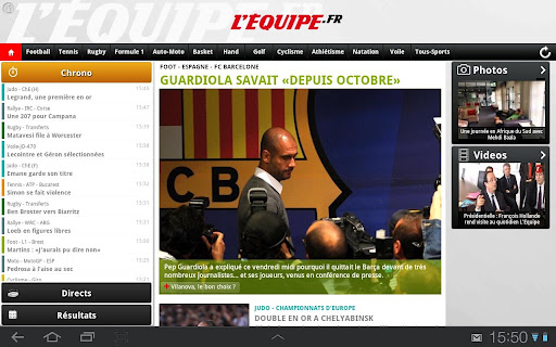 L'Equipe.fr tablette android
