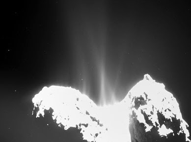 superfície do cometa Churyumov-Gerasimenko
