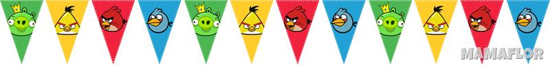 Sigue las instrucciones, banderin angry birds
