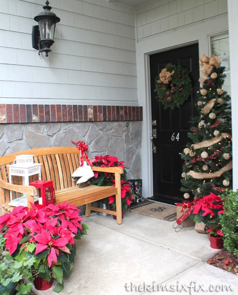 Christmas tree front porch