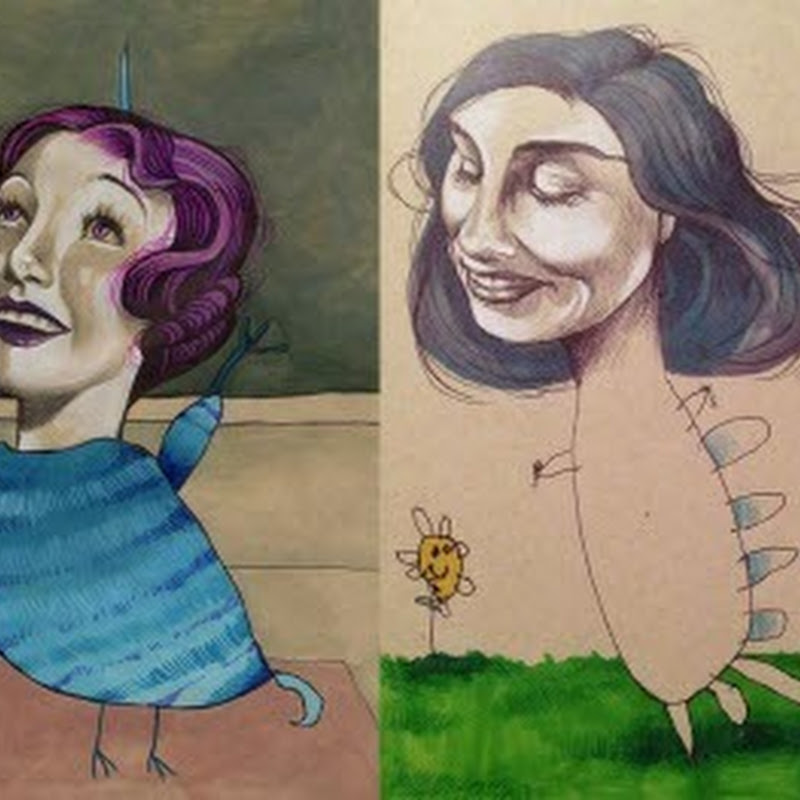 Artist Collaborates With 4-Year-Old To Create Surrealist Portraits