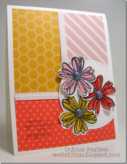 LeAnne Pugliese WeeInklings Paper Players 208 Flower Shop Stampin Up Sympathy