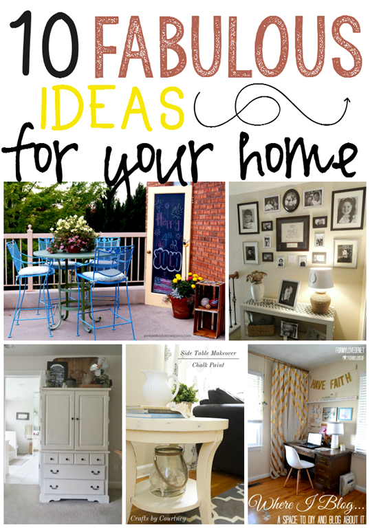 10 Fabulous Ideas for Your Home at GingerSnapCrafts.com #linkparty #features