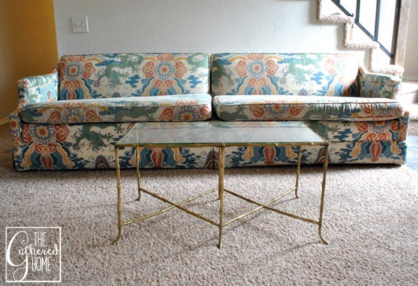 maison bagues brass bamboo table