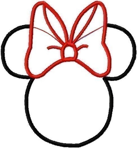 Cabeza De Minnie Mouse Para Colorear Imagui