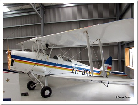 De Havilland Tiger Moth in Mount Cook Airlines colours.