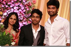 Atharva at GV Prakash Kumar & Saindhavi Wedding Reception Photos