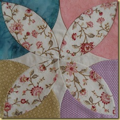 Chintz Circles block 1
