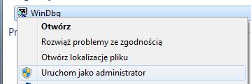 uruchom jako administrator