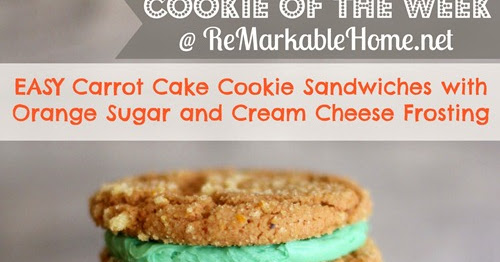 Carrot Cake Cookie Recipe Uk