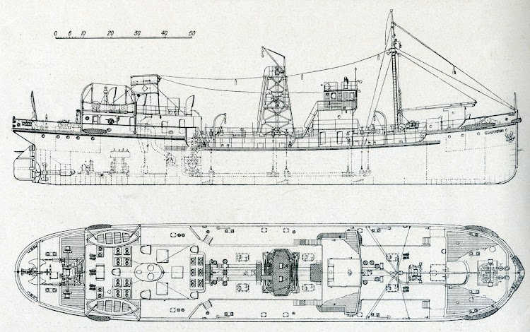 Planos del CAMPRODON. Plano de la revista INGENIERIA NAVAL. Septiembre-Octubre de 1934.jpg