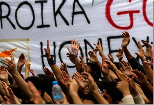Students protest in Cyprus