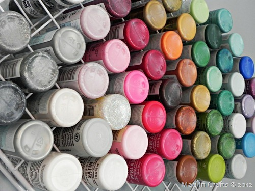 craft paint storage racks
