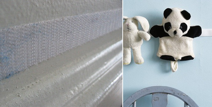 use velcro strips for glueing soft toys