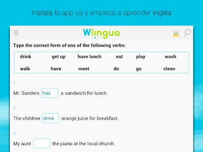 Aprender inglés con Wlingua - screenshot thumbnail