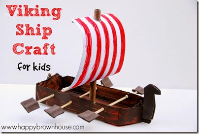 Viking Ship Craft for Kids - I love history crafts that make our hands on homeschool histroy lessons come alive - this is a great history activity for kids