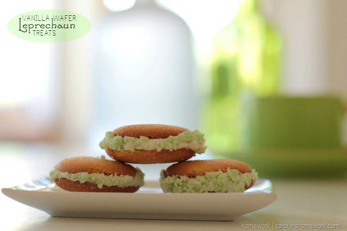 Vanilla Wafer St. Patrick's Day Cookies, Whoopie Pies, Leprechaun Treats