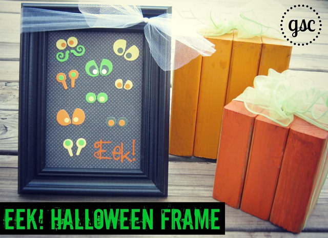 eek! halloween frame from Ginger Snap Crafts