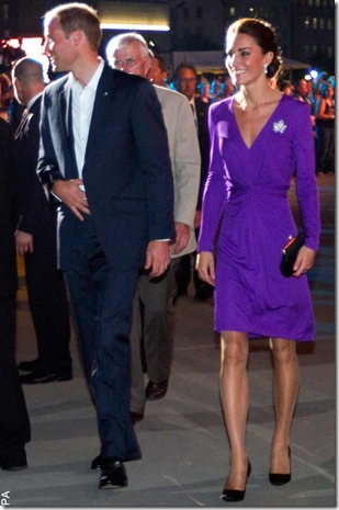 Kate Middleton wearing a purple wrap dress by Issa during her Canada Royal  Tour 0383a9f23