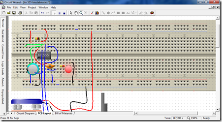 diagrama pictorico circuito biestable realizado en circuit wizard