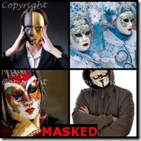 MASKED- 4 Pics 1 Word Answers 3 Letters