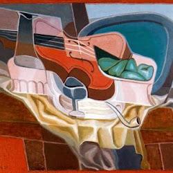 Juan Gris (1925): La Table et le fauteuil. Kunstmuseum. Solothurn.